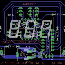 PIC16F676 ile 7 Segment displayli 0 - 30Volt Voltmetre