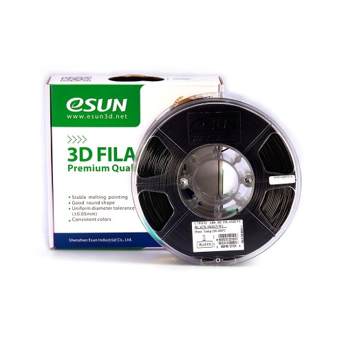 Esun 1.75 mm Siyah ( Black ) ABS Plus Filament 1000Gr