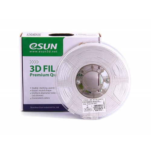 Esun 1.75 mm Beyaz ( Cold White ) ABS Filament 1000Gr