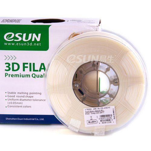 Esun 1.75 mm Natural  ABS Filament 1000Gr