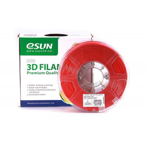 Esun 1.75 mm kırmızı ( Red ) ABS Filament 1000Gr