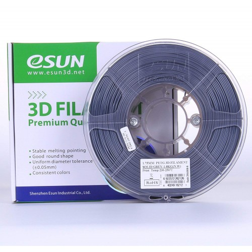 Esun 1.75 mm Gri ( Solid Grey ) PETG Filament 1000Gr