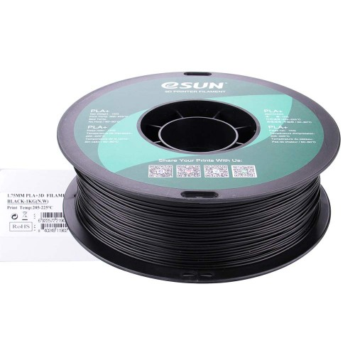 Esun 1.75 mm Siyah ( Black ) PLA Plus Filament 1000Gr