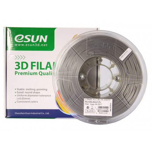 Esun 1.75 mm Gümüş ( Silver ) PLA Plus Filament 1000Gr