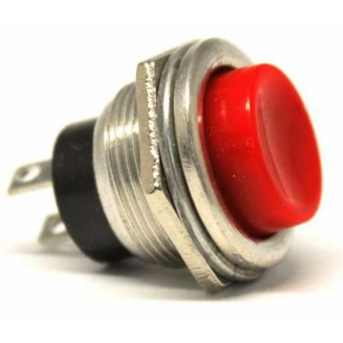 HD180 16mm Metal Push Button Kırmızı