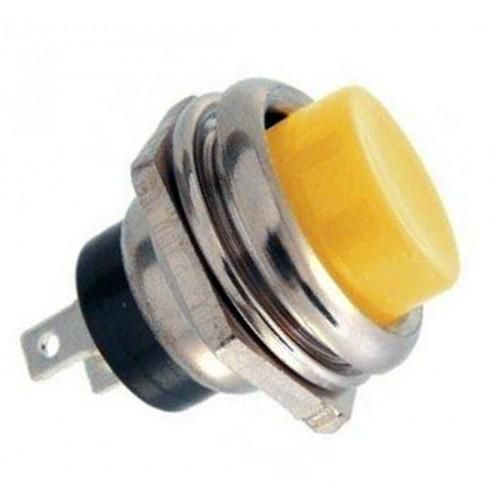 16mm Metal Push Buton Sarı