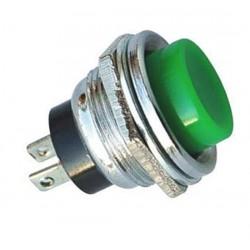 16mm Metal Push Buton Yeşil