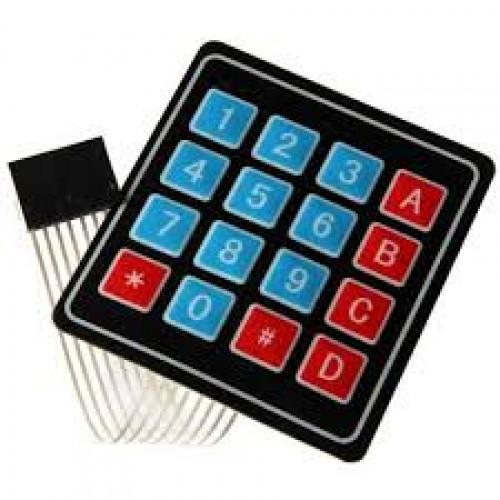 4X4 Membran matrix tuş takımı - Keypad