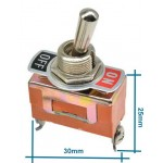 2 Pin On-Off Toggle Switch E-TEN 1021 HD152-2
