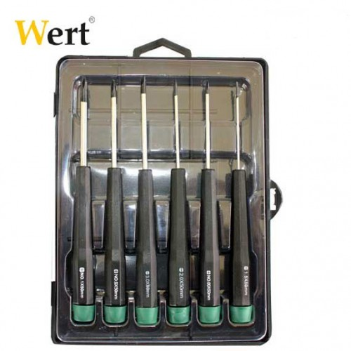 Elektronikçi tornavida seti - WERT 2262 ( 6 Parça )