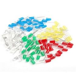100 Adet LED Paketi - 5mm Karışık LED paketi