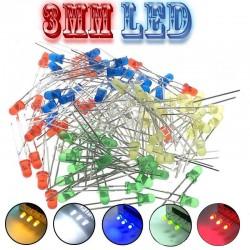 100 Adet LED Paketi - 3mm Karışık LED paketi