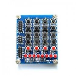 4X4 keypad - Arduino 4X4 ledli tuştakımı
