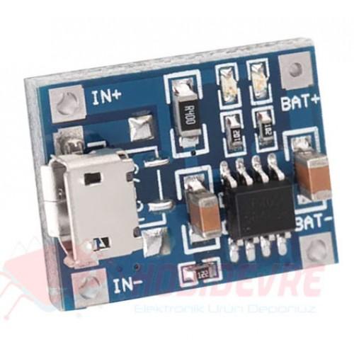 TP4056 Lityum Pil Şarj Devresi Mikro USB
