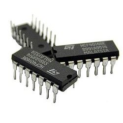 74HC11 - (  triple 3-input AND gate )