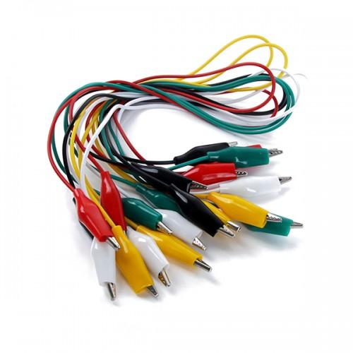 Küçük boy krokodil kablo 10 adet