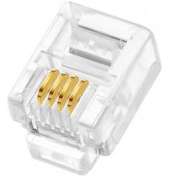 6P2C 4 Pin Plug Telefon Jakı