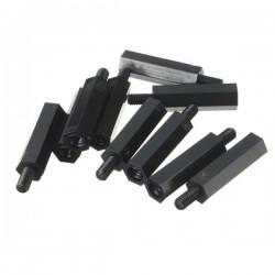 M3 Siyah Metal Dişi Erkek 5mm Distans