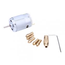 Mini Matkap - Mandren ve DC Motor ( 0.5mm - 3.2mm )