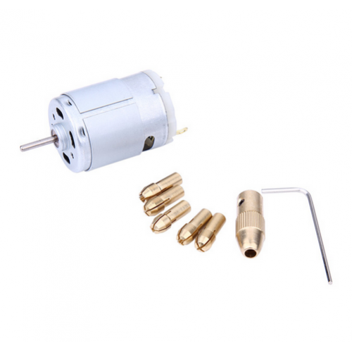 Mini Matkap - Mandren ve DC Motor ( 0.5mm - 3.2mm )