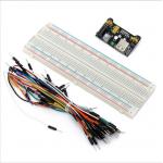 830 Delikli Breadbord + 65 li Jumper Kablo Seti + Power Modülü